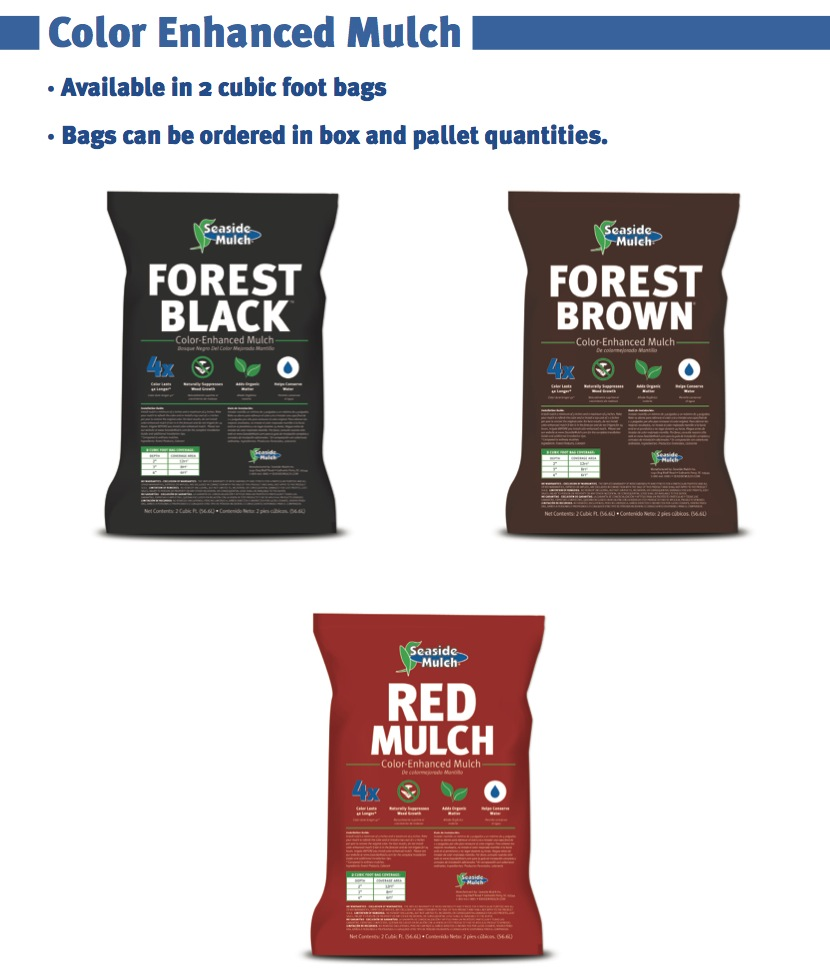 Color Enhanced Mulch Bags