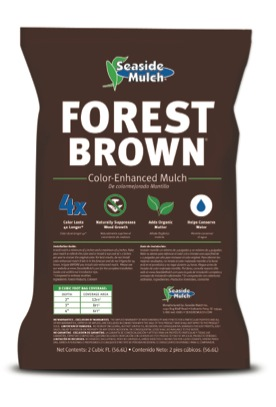 Forest Brown Mulch Bag