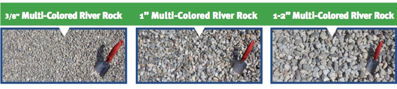 Multi-Colored River Rock (3)
