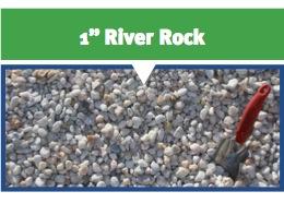 "1"" Gray River Rock"