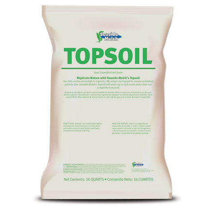 Topsoil from seaside mulch gardening topsoil seaside mulch for Compost soil bags